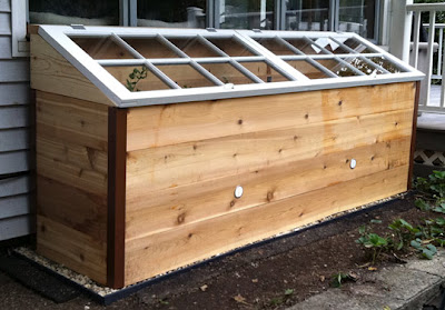 Raised Bed Gets Cold Frame